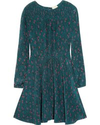 Girl by Band of Outsiders - Grapevine Printed Silk Crepe De Chine Dress - Lyst