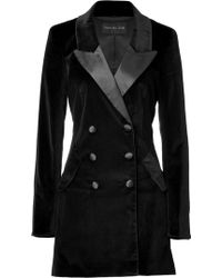 Rachel Zoe Black Velvet Cameron Tuxedo Coat - Lyst