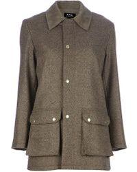 A.P.C. Herringbone Jacket - Lyst