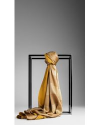 Burberry Striped Silk Scarf - Lyst