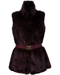 Burberry Belted Gilet - Lyst