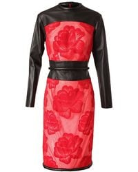 Christopher Kane Sheer Mesh Dress with Floral Embroidery - Lyst