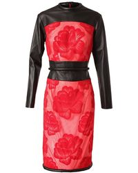Christopher Kane Sheer Mesh Dress with Floral Embroidery black - Lyst
