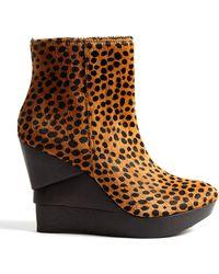 Diane von Furstenberg Leopard Opalista Shoe Boots - Lyst