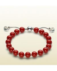 Gucci Bracelet With Wood Beads - Lyst