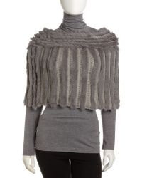 Jocelyn - Crochetrabbit Fur Capelet Gray - Lyst