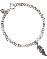 Juicy Couture - Feather Wish Bracelet - Lyst
