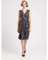 Marc Jacobs Pleated Silk Dress - Lyst