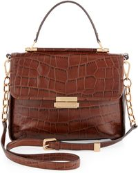 Rachel Zoe - Kate Lady Bag Brown Crocodile Embossed - Lyst