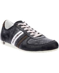 Dolce & Gabbana Perforated Leather Sneaker - Lyst