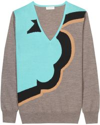 Dries Van Noten Maldives Wool Sweater - Lyst