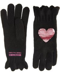 Boutique Moschino - Sequin Heart Gloves - Lyst