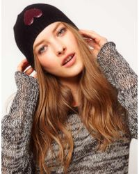 Boutique Moschino - Sequin Heart Hat - Lyst