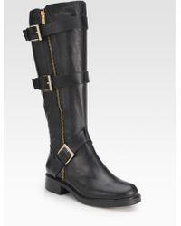 Pour La Victoire Voxen Leather Buckle Kneehigh Boots - Lyst