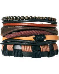 River Island - Leather Bracelet - Lyst