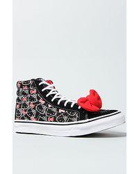 Vans The Hello Kitty Sk8 Hi Slim Sneaker in Black and White - Lyst