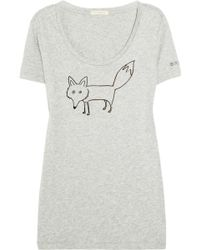 Burberry Brit - Fox-Print Cotton-Blend T-Shirt - Lyst