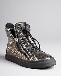 Giuseppe Zanotti Sneakers Metallic Lace Up - Lyst