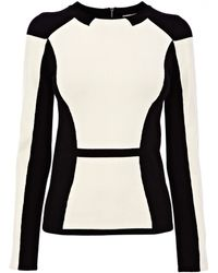 Karen Millen Feminine Colourblock Knit Jumper - Lyst