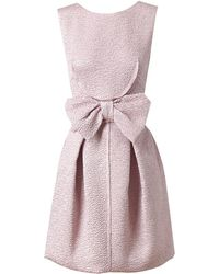 Nina Ricci Silkblend Cloque Dress - Lyst