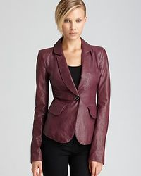 Rachel Zoe Leather Jacket Daphne Fitted - Lyst