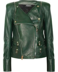Balmain Leather Jacket - Lyst