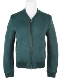 Carven Sheepskin Blouson with Ribbed Collar - Lyst