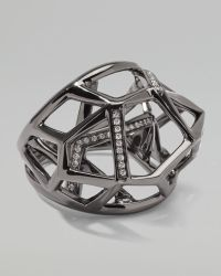 Ippolita - Faceted Pave Diamond Ring - Lyst