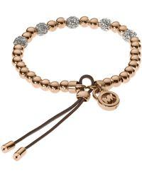 Michael Kors Bead Stretch Bracelet Rose Golden pink - Lyst