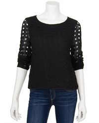 Tibi Ambroise Mohair Easy Top - Lyst