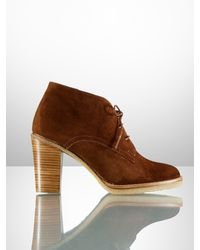 Ralph Lauren Collection Franny Suede Desert Bootie - Lyst