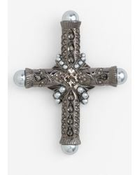 Givenchy Femme Cross Brooch - Lyst