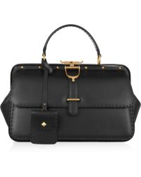 Gucci Lady Stirrup Studded Leather Doctor Bag - Lyst