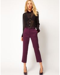 ASOS Collection Asos Crepe Cropped Trousers - Lyst