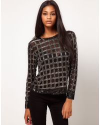 ASOS Collection Asos Jumper with Premium Grid Embellishment - Lyst