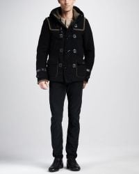 Diesel Witaker Felt Toggle Coat - Lyst