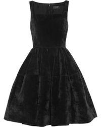 Lanvin Velvet Dress - Lyst