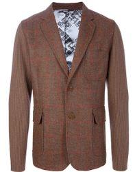 Vivienne Westwood Contrast Check Blazer brown - Lyst