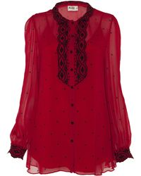 Alice By Temperley Mitford Blouse red - Lyst