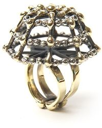 Anndra Neen - Dotted Net Ring - Lyst