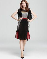 BCBGMAXAZRIA Midi Dress Caterina Color Block - Lyst