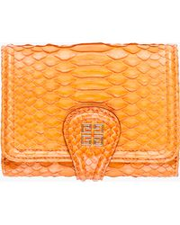 Givenchy Orange Python Skin Wallet orange - Lyst