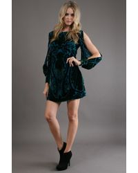 Alexia Admor Velvet Poet Burnout Dress - Lyst
