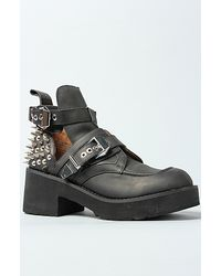 Jeffrey Campbell The Coltrane Boot in Black and Silver Spikes - Lyst