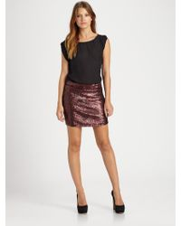 Alice + Olivia Bedelle Sequined Mini Skirt - Lyst