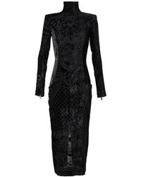 Balmain Devore Velvet Gown - Lyst