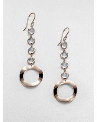 Ippolita Sterling Silver 18k Gold Long Drop Earringsclear Quartz - Lyst