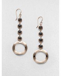 Ippolita Sterling Silver 18k Gold Long Drop Earringssmokey Quartz - Lyst