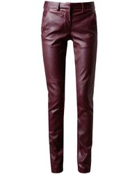 Maison Martin Margiela Leather and Jersey Trousers - Lyst
