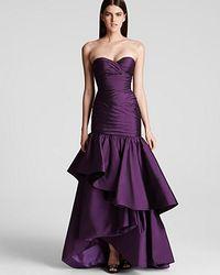 ML Monique Lhuillier Strapless Gown  - Lyst